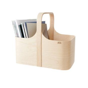Lectuurbak Koppa magazine rack berkenhout van Verso Design byJensen