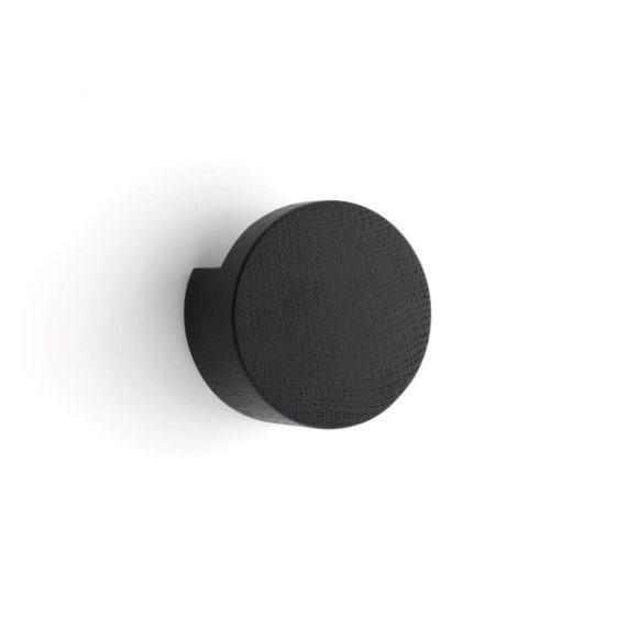 by Wirth Wood Knot wandknop large zwart byjensen