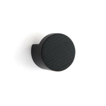 by Wirth Wood Knot wandknop medium zwart byjensen