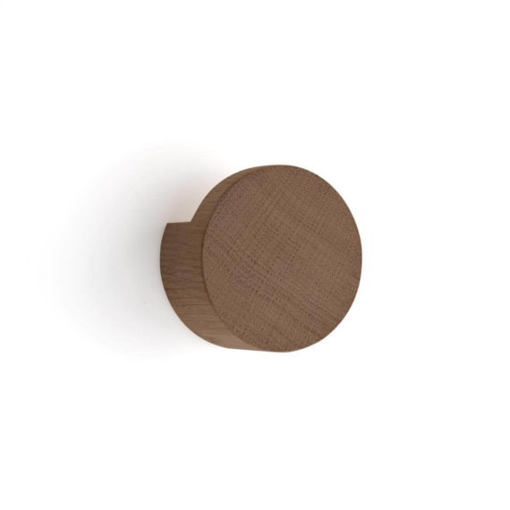 by Wirth Wood Knot wandknop large gerookt eikenhout byjensen