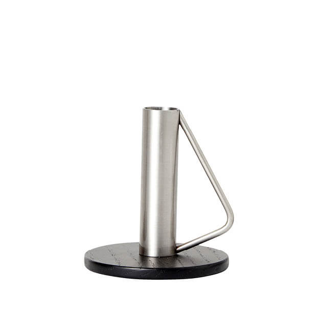 Candle holder medium stalen kandelaar steel wood andersen furniture