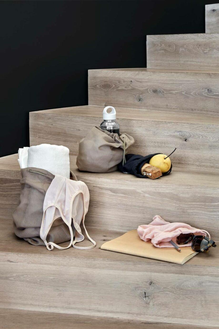 All Purpose bag clay en stone rose katoenen bewaarzak van the organic company byjensen