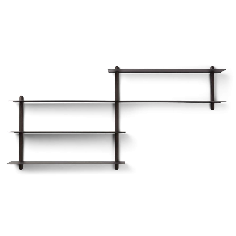 Wandplank Zwart Metaal Hout.Nivo B Wandrek Zwart
