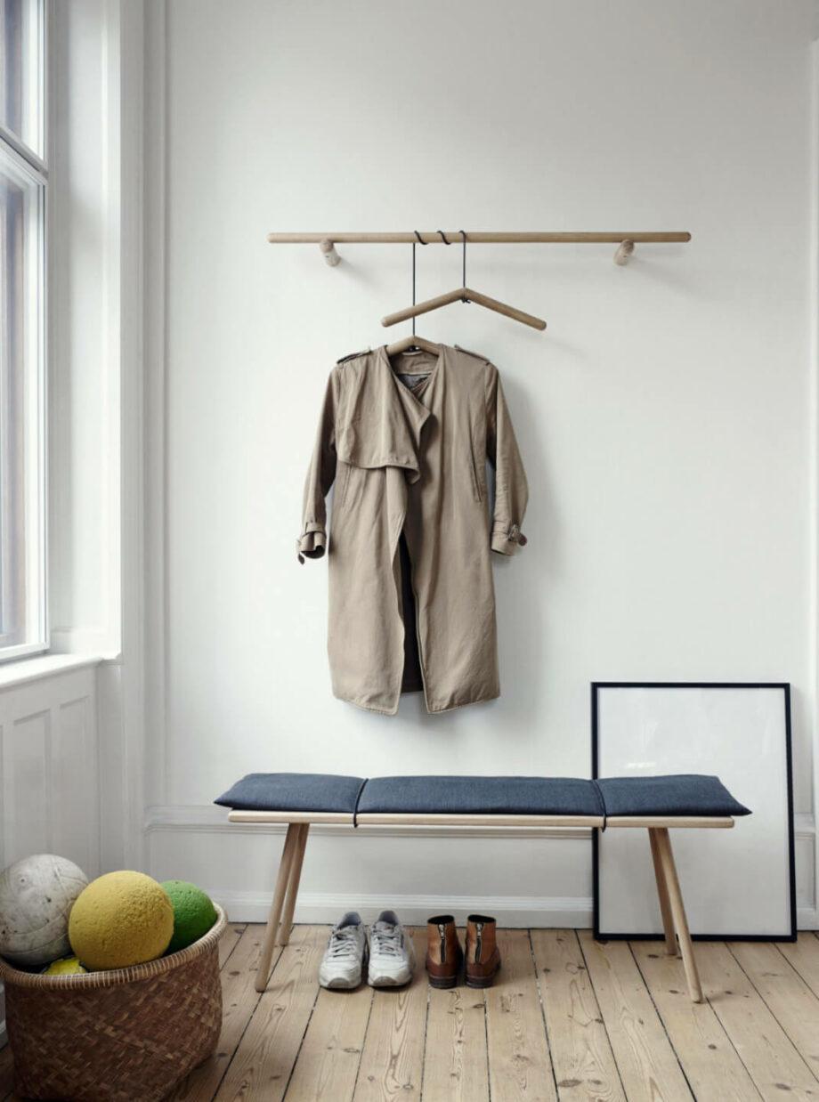 hanger kapstok Georg eikenhout minimalistisch Scandinavisch design skagerak Denmark byJensen