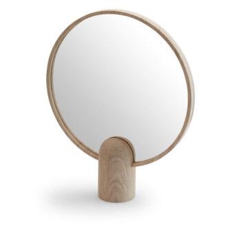 Skagerak Tafelspiegel Aino Mirror groot spiegel skagerak denmark eikenhouten handspiegel