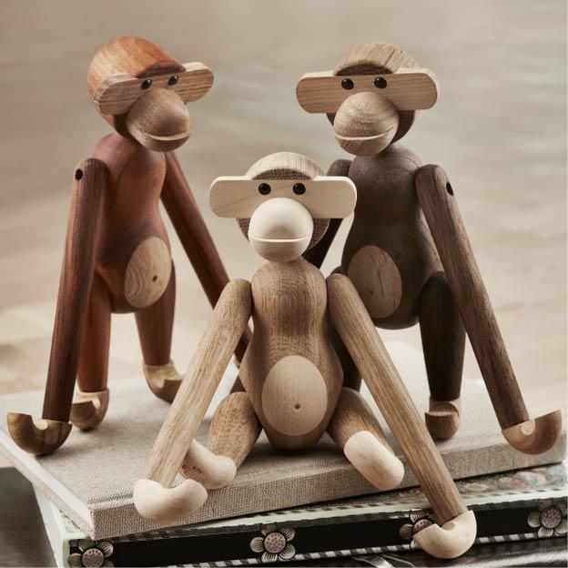 Kay Bojesen Monkey houten aap eikenhout original byjensen