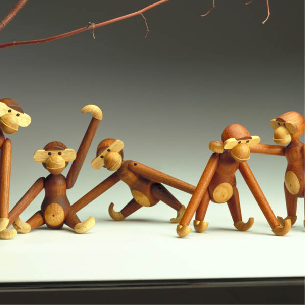 Kay Bojesen houten aap speelgoed
