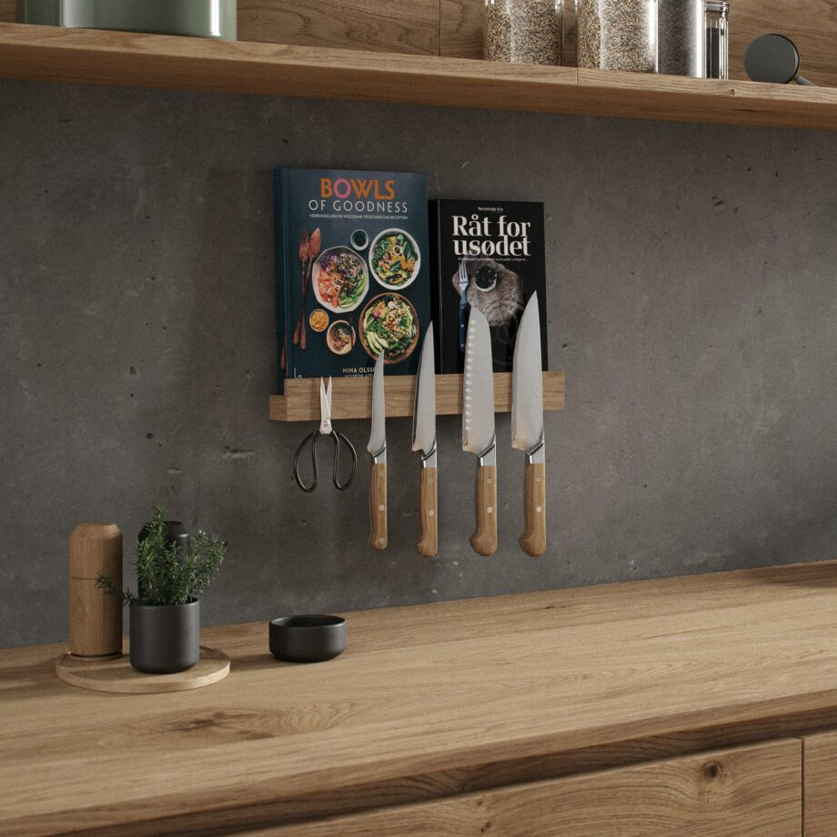 Magnetisch keukenrek messenmagneet geolied eiken by Wirth