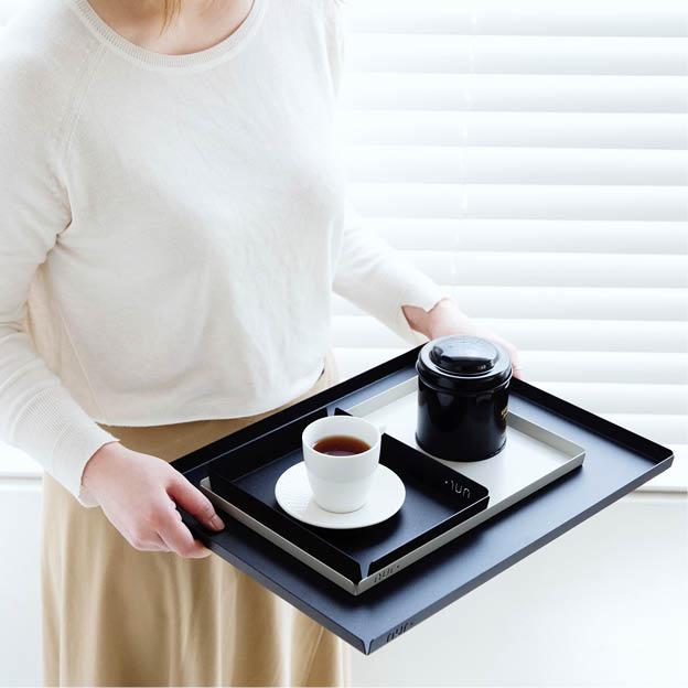 Nur tray dienblad xlarge zwart