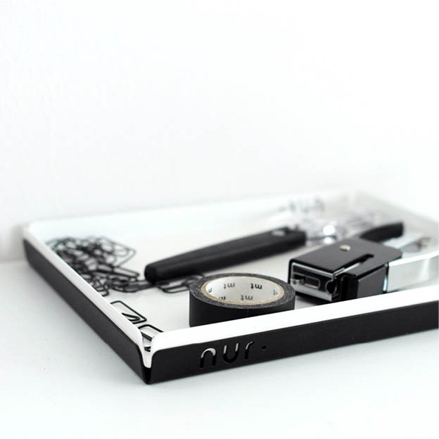 Nur tray medium wit en zwart