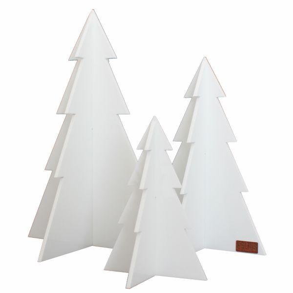 Minimalistische kerstbomen wit felius