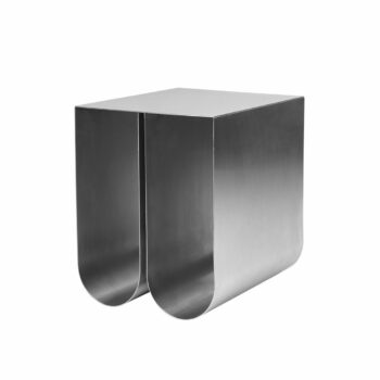 Kristina dam studio curved side tabel bijzettafel staal