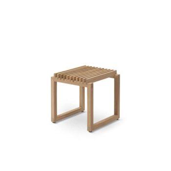 Cutter kruk stool eikenhout Skagerak Denmark