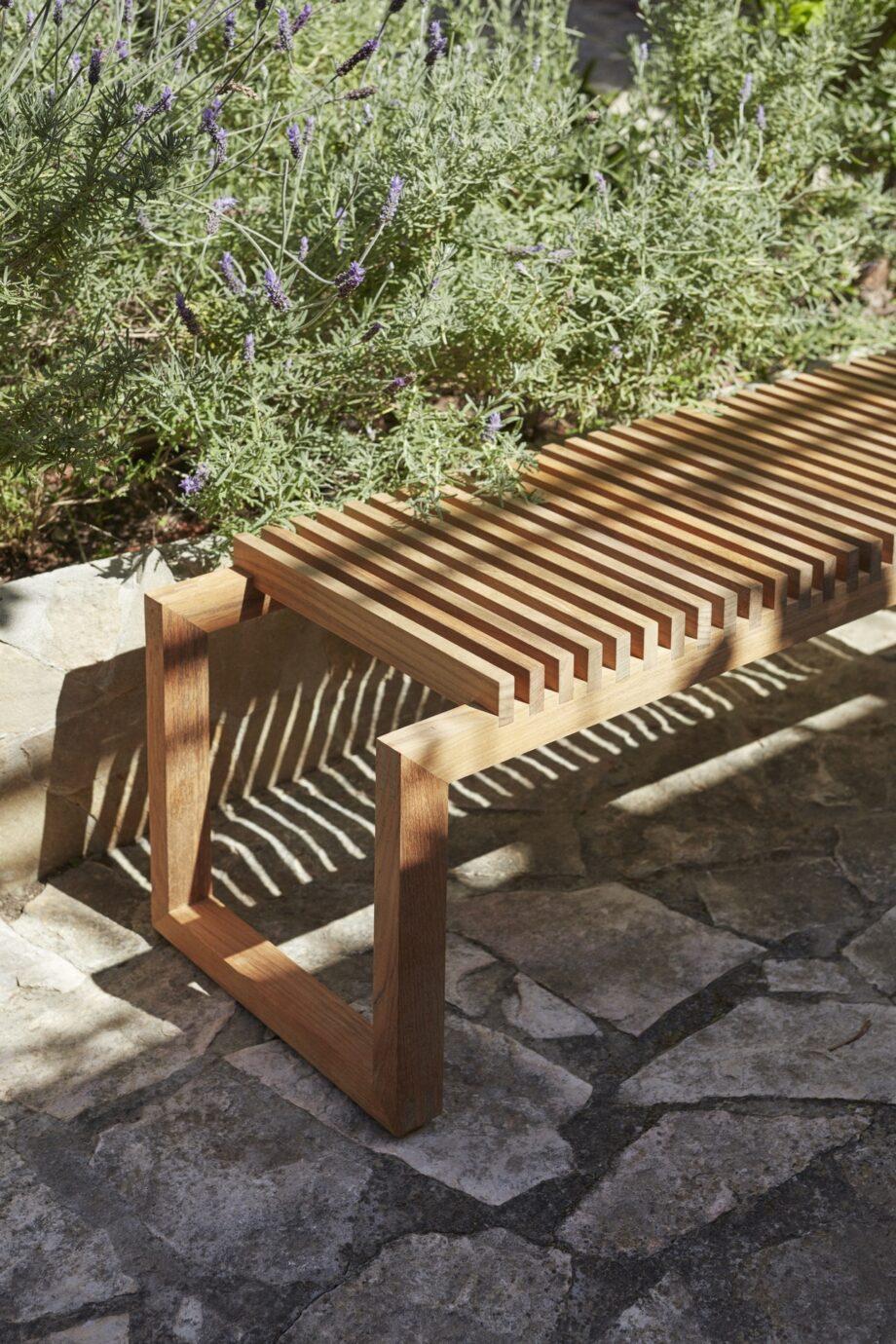 Cutter Bench teak Skagerak bank outdoor