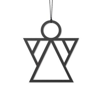 Engel kerstboom hangers zwart felius Design