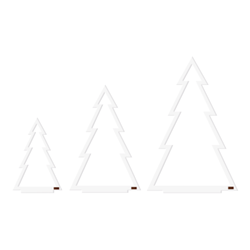 Felius design line kerstbomen christmas trees wit
