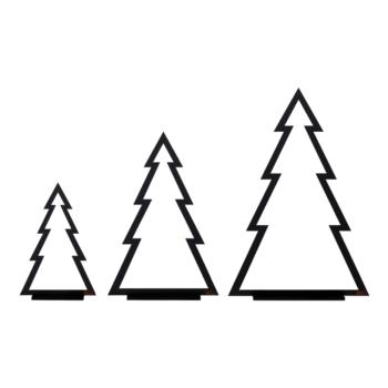 Felius design line kerstbomen christmas trees zwart
