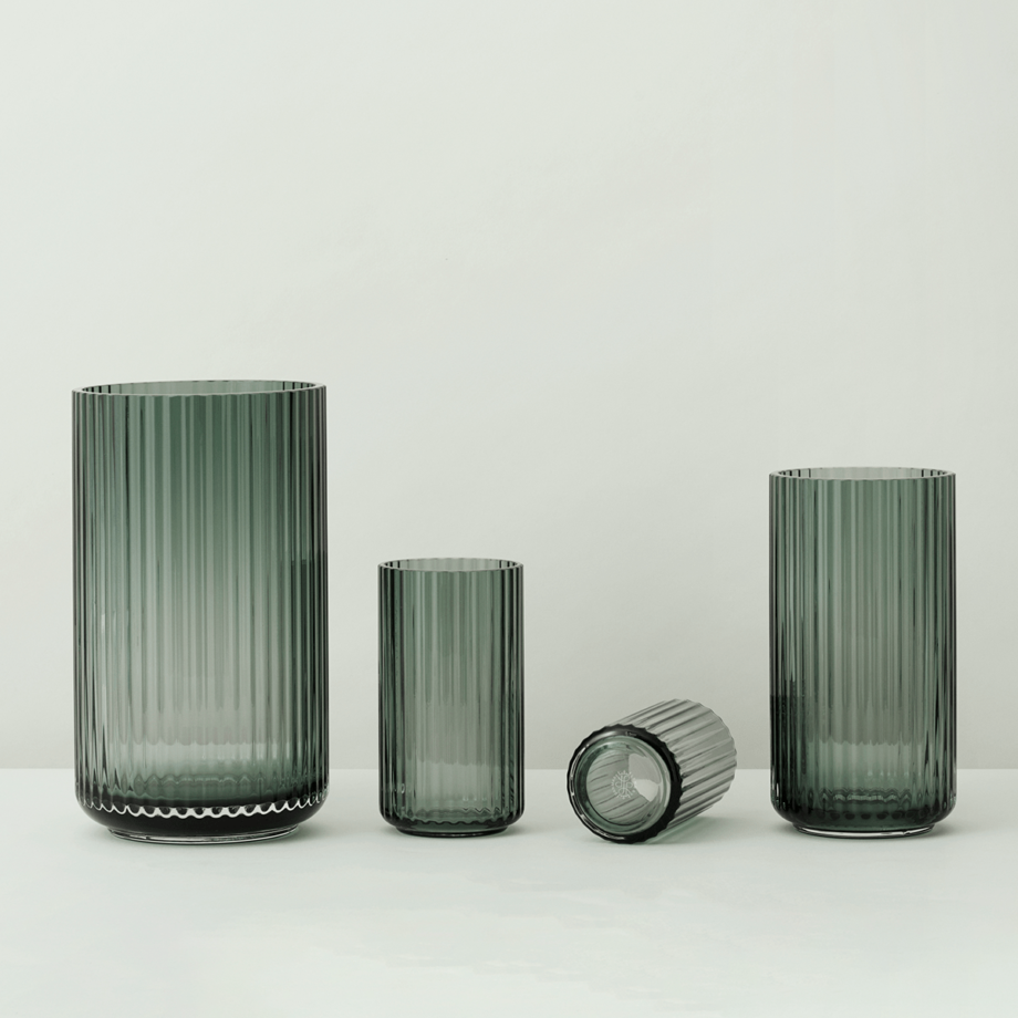 Lyngby glazen vazen copenhagen green