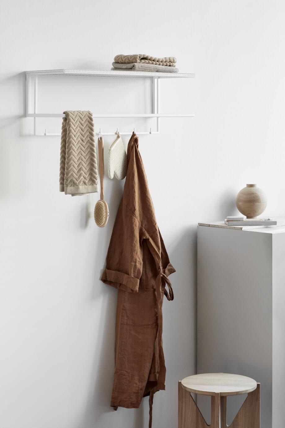 Kristina Dam grid garderobe kapstok in wit metaal voor entree, hal of badkamer
