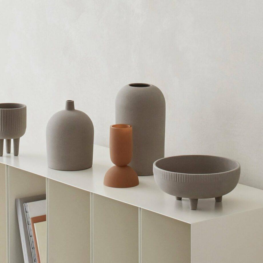 Dual Vazen Ochre bowl medium Kristina Dam Studio