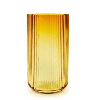 Lyngby vaas amber geel 38 cm