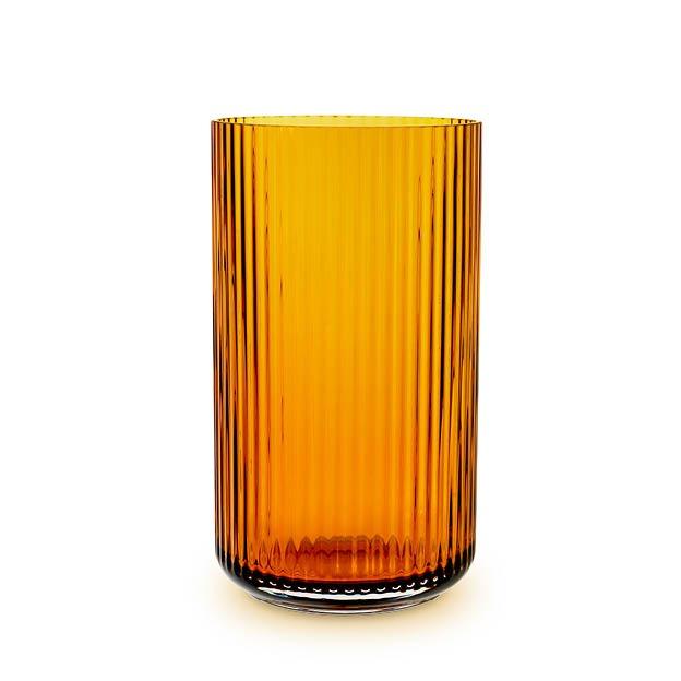 Lyngby Glas vaas amber geel 31 cm
