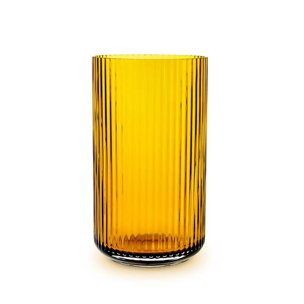 Lyngby vaas amber glas 25 cm