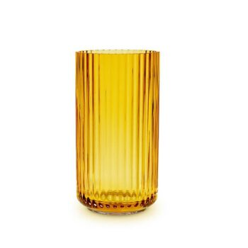 Lyngby vaas glas 20 cm amber