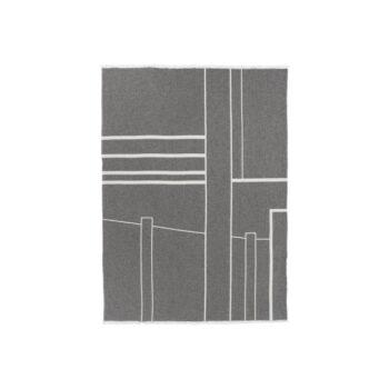 Kristina dam architecture throw plaid grijs katoen