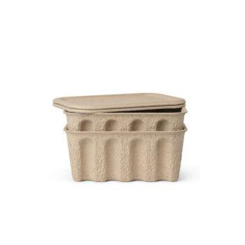 Ferm Living Paper Pulp doos small met deksel set van 2 stuks papierpulp