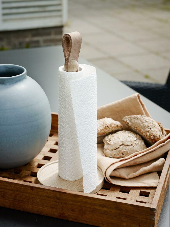 Houten scandinavisch design keukenrolhouder Skagerak Denmark
