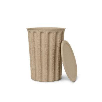 Papierpulp prullenbak met deksel Ferm Living Paper Pulp bin