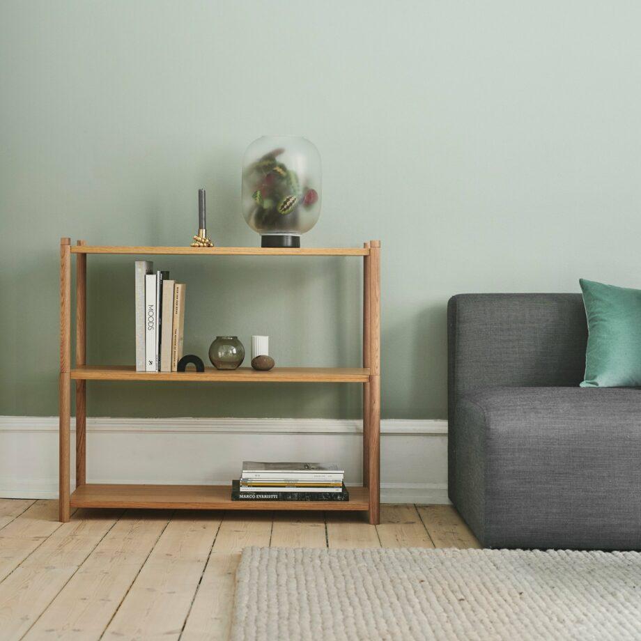 Gejst Design lage boekenkast eikenhout Sceene A