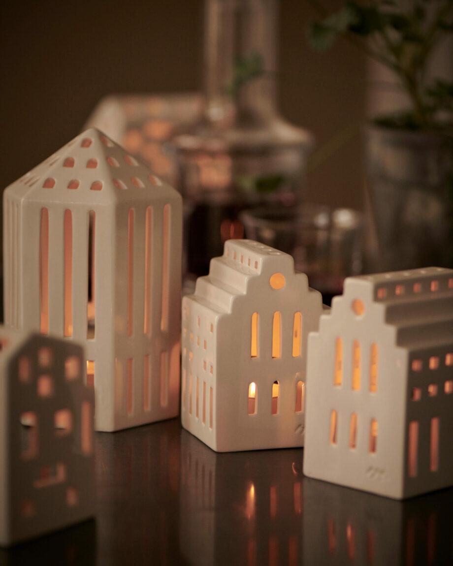 Urbania light house licht huisjes wit keramiek