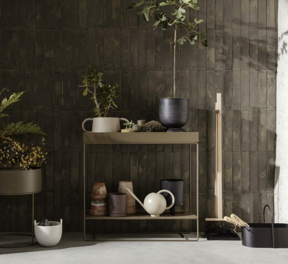 Plant box two-tier ferm living Olive