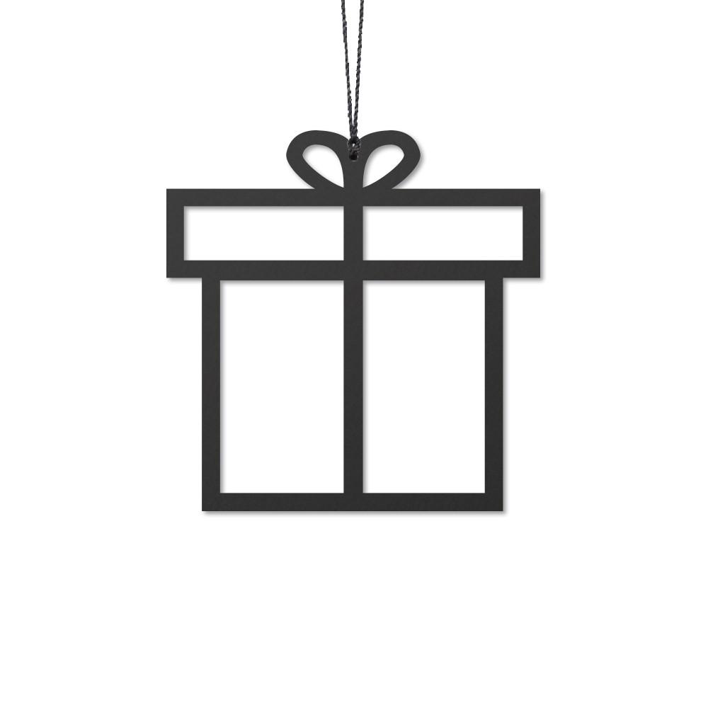Felius design kerstboom hanger cadeau kerstdecoratie zwart