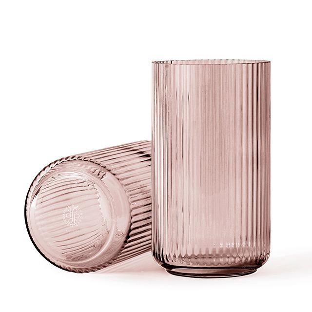 Lyngby vaas burgundy 31 cm glas