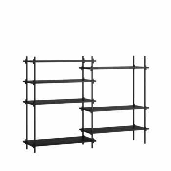 Moebe kast shelving system medium double set 6 zwart