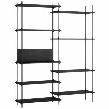 Moebe kast shelving system tall double set 7 zwart