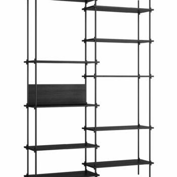 Moebe kast shelving system tall double set 8 zwart