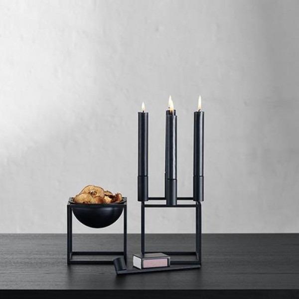 By Lassen Kubus 4 en bowl small zwart metaal