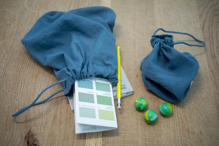 Blauwe eco bewaarzakken all purpose bags the organic company