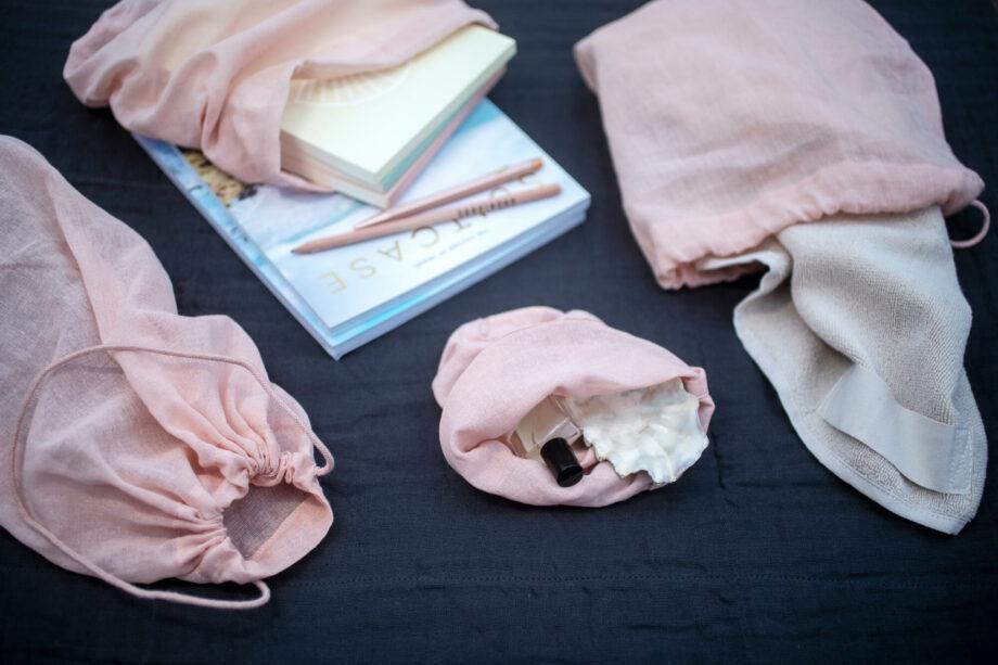 Roze bewaarzakken all purpose bags the organic company
