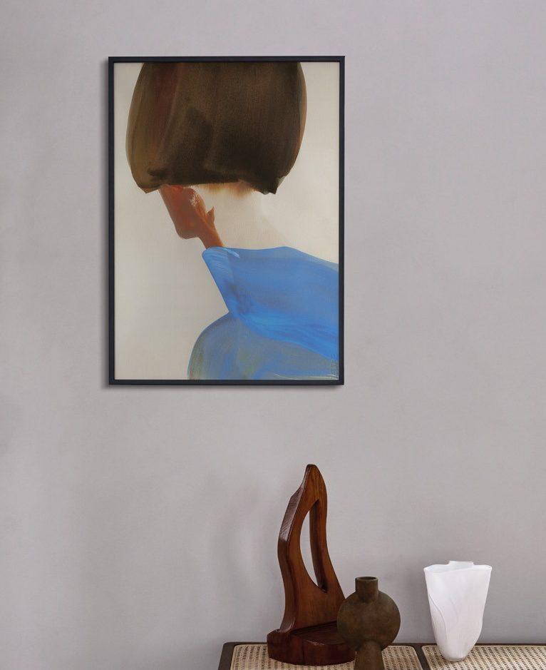 Paper Collective Blue cape poster van Amelie Hegardt