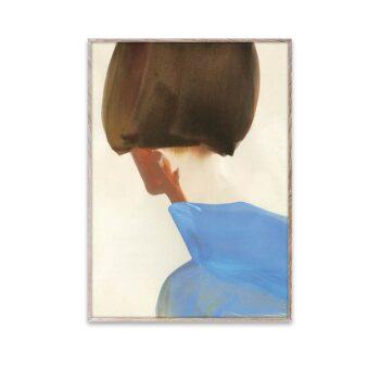 Blue cape poster van Amelie Hegardt Paper Collective 50x70