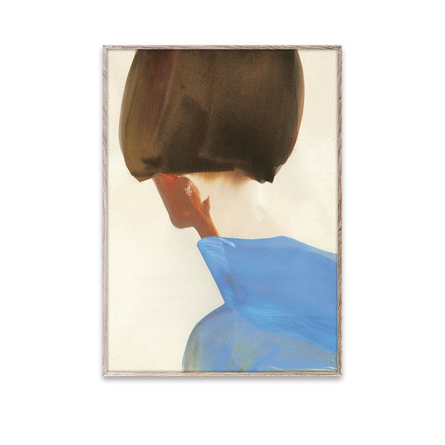 Blue cape poster van Amelie Hegardt Paper Collective 50x70