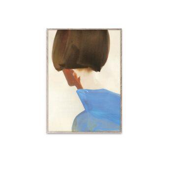 Blue cape poster van Amelie Hegardt Paper Collective 30x40