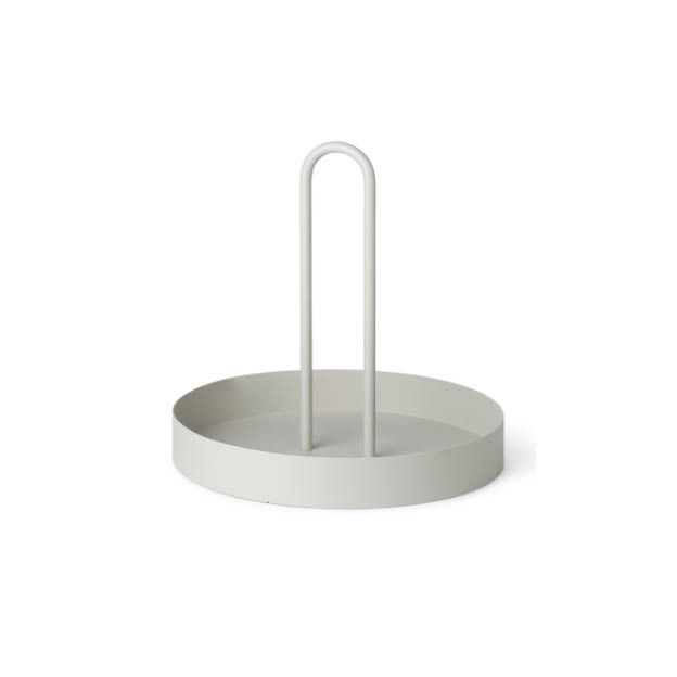 Grib tray ferm Living metalen dienblad lichtgrijs