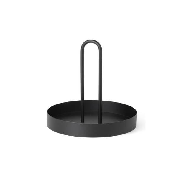Ferm Living Grib tray metalen dienblad zwart