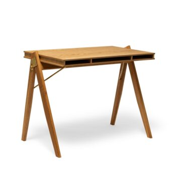 We Do Wood Field desk homeoffice bureau eikenhout messing